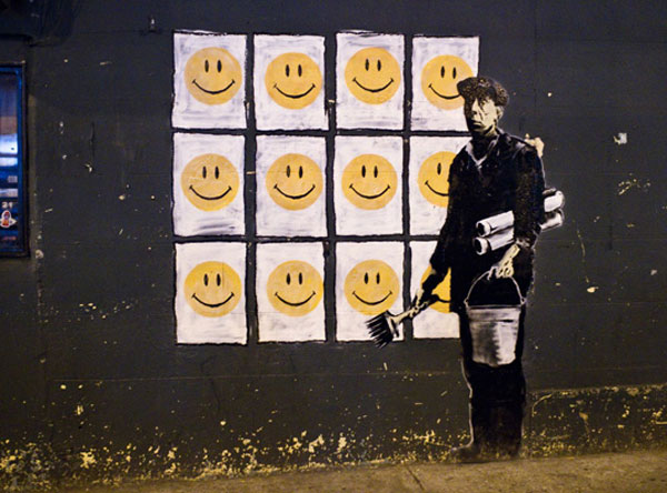 Banksy smiley