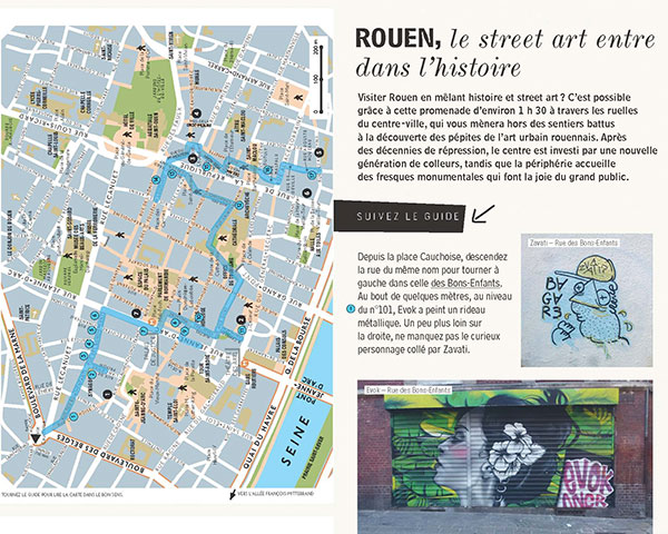 Rouen page Guide street art France